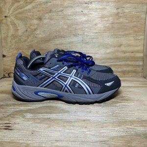 ASICS Gel-Venture 5 Trail Running Shoes Mens Size 11 Extra Wide 4E Gray Blue